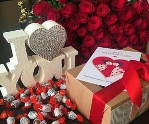 chocolate, i love u, and gift image