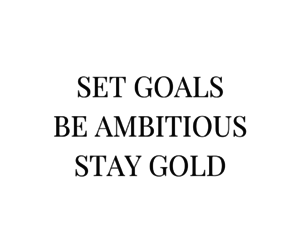 quotes, goals, and gold image