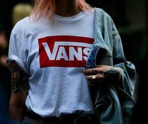 fashion, vans, and tattoo image