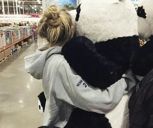 panda, bear, and love image