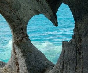 heart, sea, and beach image