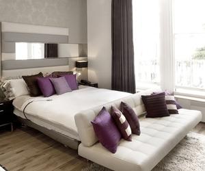bedroom, purple, and nice image