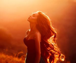 sunset and hair image