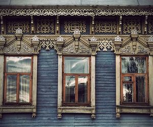 house, russia, and windows image