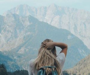 girl, alternative, and mountains image