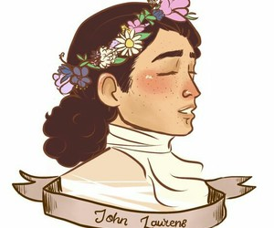 flower crown, hamilton, and john laurens image