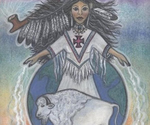 american indian, balance, and bison image