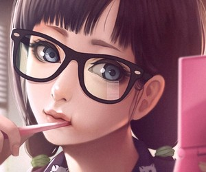 girl, illustration, and wallpaper image