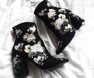 booties, boots, and flower image