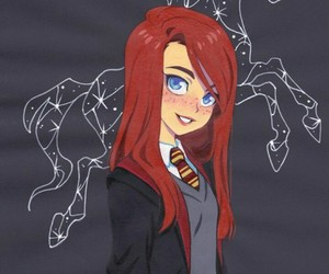 harry potter, ginny, and book image