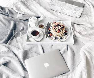 food, pancakes, and apple image