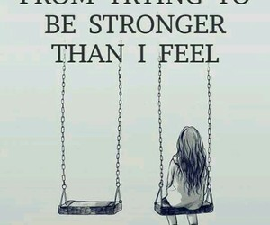 strong, quotes, and sad image