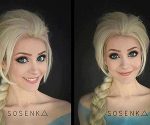 disney, frozen, and make-up image