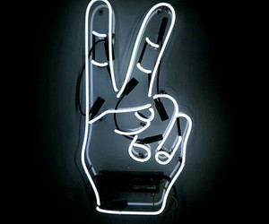 neon, peace, and light image