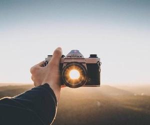 photography, camera, and sun image