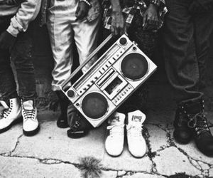 music, boombox, and radio image