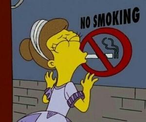 smoking, smoke, and simpsons image
