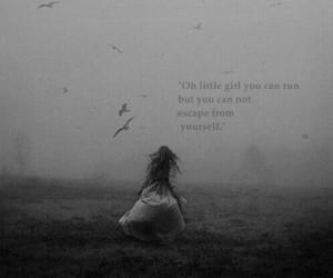 girl, escape, and run image