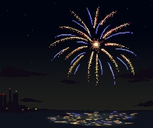 aesthetic, firework, and night image