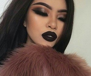 black, dark, and smokey eye image