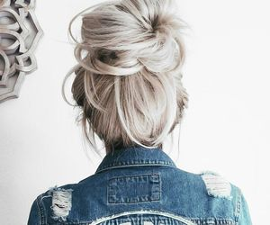 hair, style, and jeans image