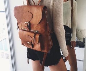 backpack, fashion, and hipster image