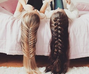 hair, braid, and best friends image