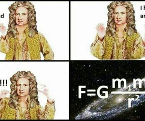 funny, newton, and ppap image