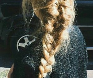 braid, hairdo, and hairstyles image