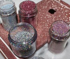aesthetics, glitter, and phone case image