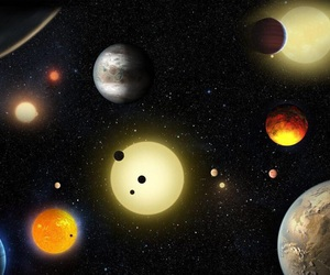 planets and earth image