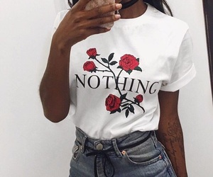 rose, outfit, and nothing image