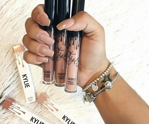 makeup, nails, and kylie image