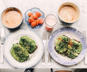 avocado, food, and greens image