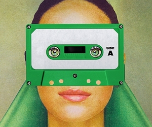 green, cassette, and Collage image