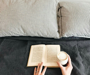 bed, books, and library image