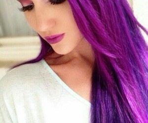 hair, purple, and purple hair image