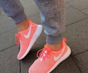 grey, nike shoes, and coral image