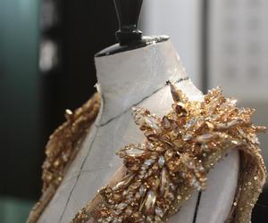 gold, dress, and fashion image