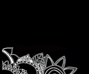 overlay, flowers, and black image