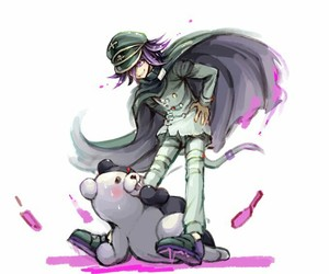 twitter, danganronpa, and monokuma image