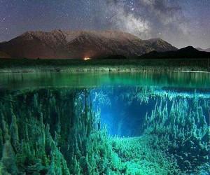 blue, landscape, and magic image