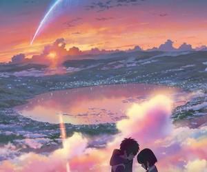 anime, kimi no na wa, and your name image