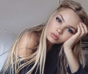 icon, blonde girls, and blue eyes image