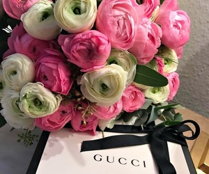 flowers, gucci, and pink image