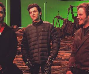 spiderman, tom holland, and chris pratt image