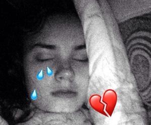 broken, tears, and broken heart image