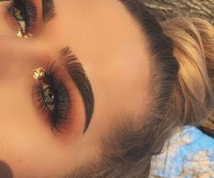 makeup, eyes, and pretty image