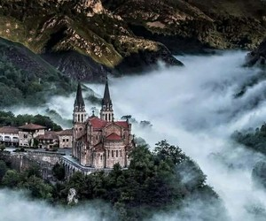 castle, spain, and mountains image