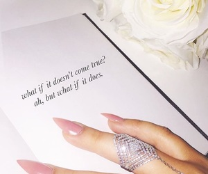 nails, quotes, and ring image